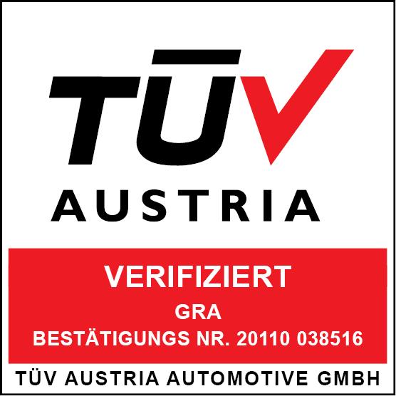 TÜV Austria Zertifikat DE